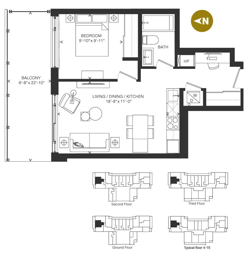 Bowery Condo Floorplan - O-2
