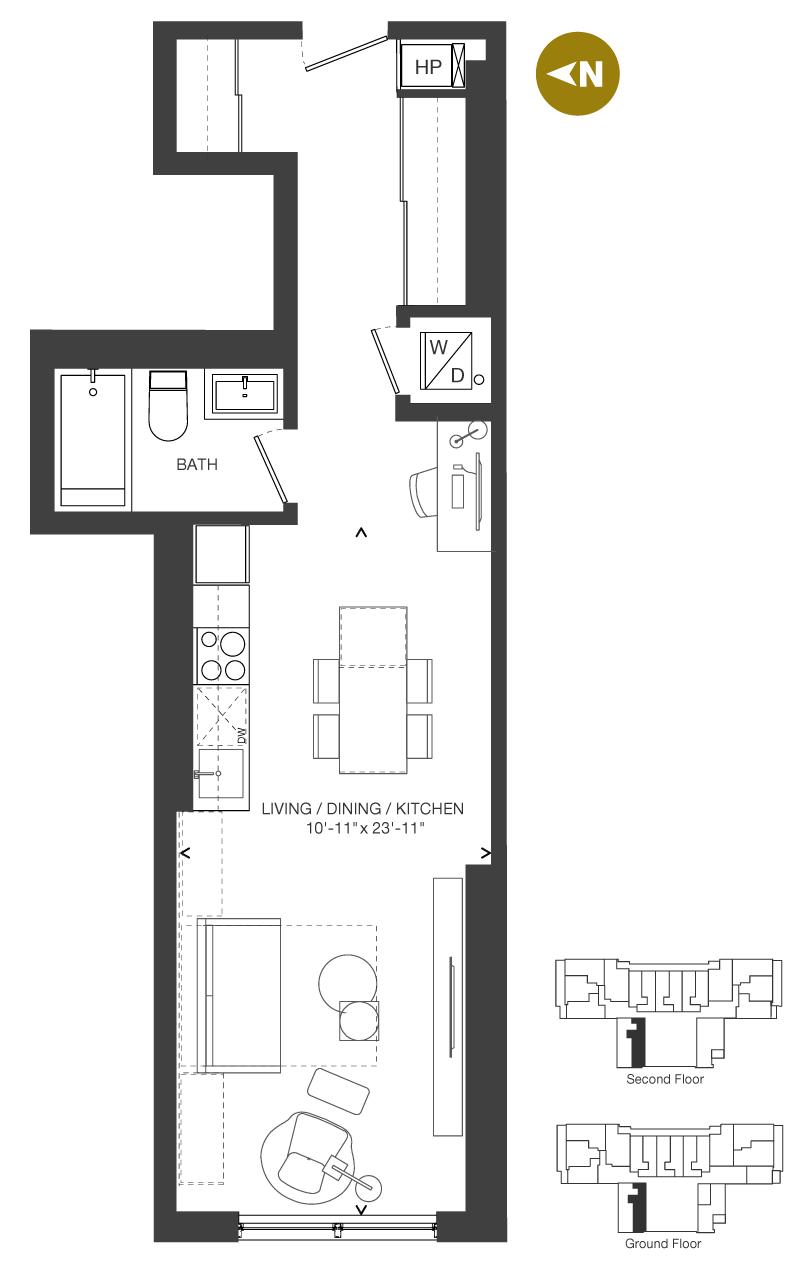 Bowery Condo Floorplan - S-5