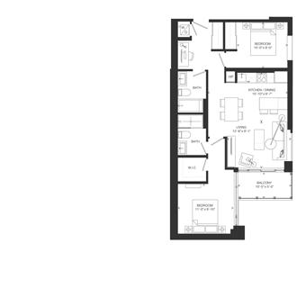 Bowery Floorplan - T-3