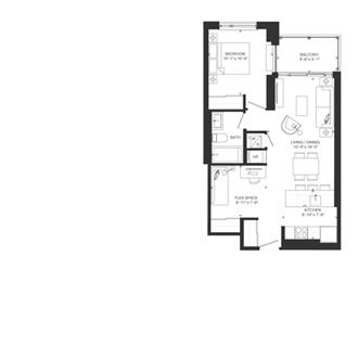 Bowery Floorplan - F-3