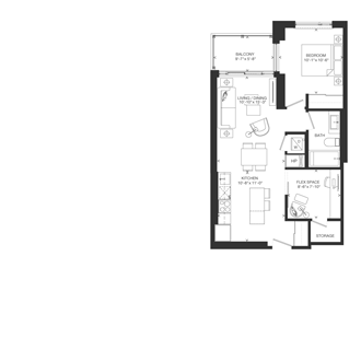 Bowery Floorplan - F-4