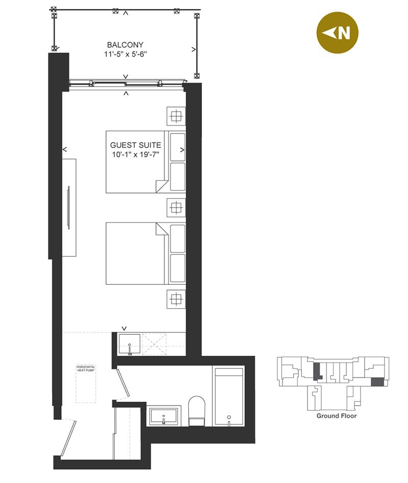 Bowery Condo Floorplan - G-2