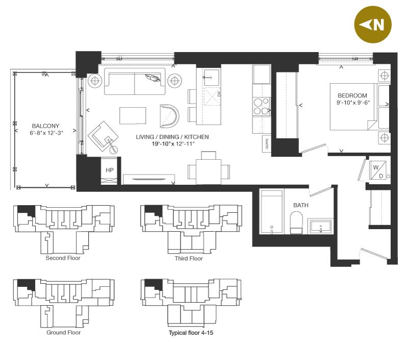 Bowery Condo Floorplan - O-5