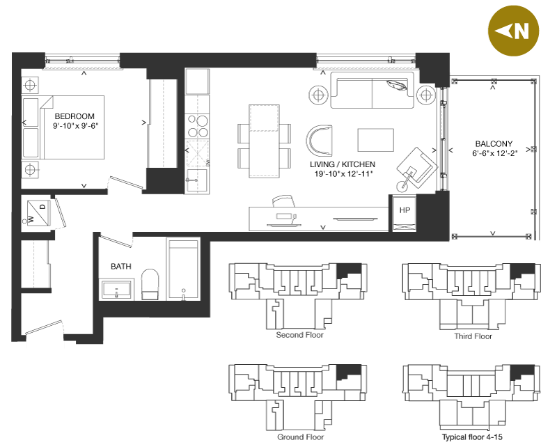 Bowery Condo Floorplan - O-6