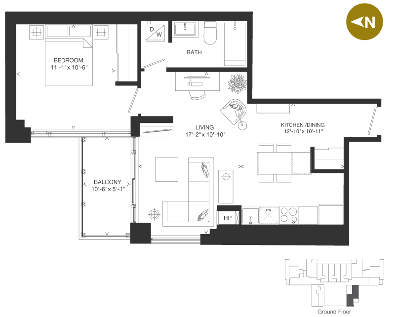 Bowery Condo Floorplan - O8